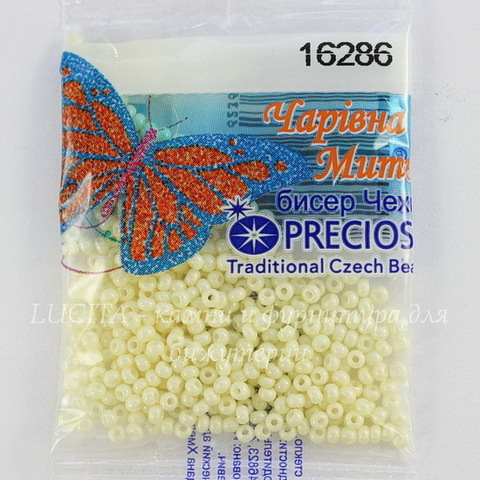 16286 Бисер 10/0 Preciosa Мел перламутровый светло-светло желтый
