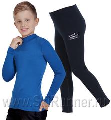 Комплект термобелья из шерсти мериноса Norveg Soft Ниагара-black детский