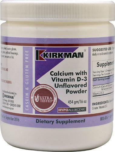 Kirkman Calcium with Vitamin D-3 Powder Unflavored -- 16 oz Kirkman-Calcium-with-Vitamin-D-3-Powder-Unflavored-812325020294.jpg