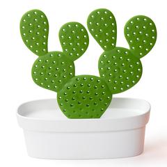 Органайзер для мелочей Caccessories, белый с зеленым Qualy