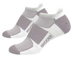 Комплект беговых носков Brooks Essential Low Tab( 740273-103) белые