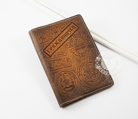 BY14-03-05 Кожаная обложка на паспорт