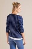 Блузка 09787 синяя полоска