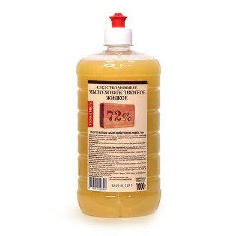 Рябина Средство моющее Мыло хозяйственное жидкое 72% 1000 мл