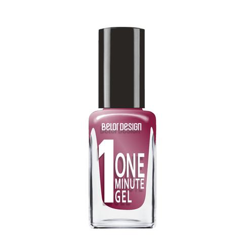 BelorDesign One Minute Gel Лак для ногтей тон 221 искристый бордовый 10мл