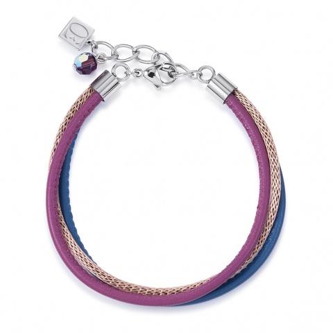 Браслет Coeur de Lion 4922/30-1567 цвет фиолетовый, розовый, синий