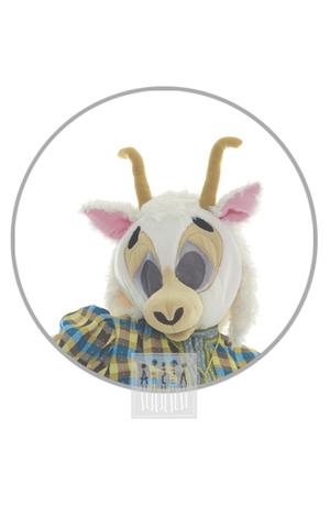 Фото Коза ( головной убор - маска ) рисунок Костюм Мамы Козы выполнен из флиса, рога и нос набиты синтепоном. Лоб украшен челкой из бахромы, на голове