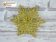Пластиковый декор Золотая снежинка № 8