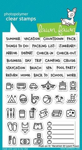 Набор штампов  10 х 15 см - Plan On It: Vacation