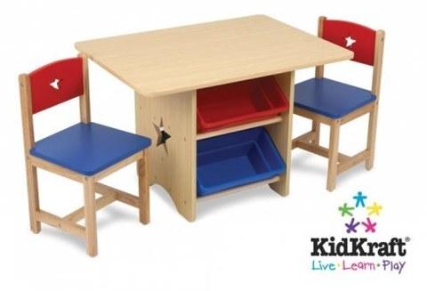 Набор мебели KidKraft Star (стол+2 стула+4 ящика) 26912_KE