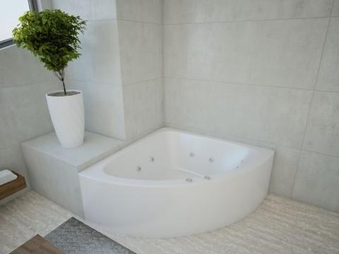Ванна акриловая угловая ЮПИТЕР 150х150 AQUATEK (с каркасом и фронтальной панелью)