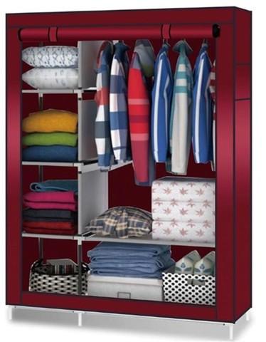 Шкаф тканевый для одежды складной каркасный 4 полки
