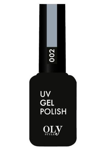 OLYSTYLE Гель-лак д/ногтей тон 002 серый