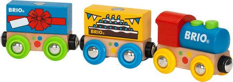 BRIO 33818 Поезд деревянной железной дороги День рождения