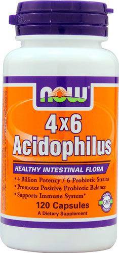 Пробиотические добавки NOW 4X6 Acidophilus -- 4 billion - 120 Capsules NOW-4X6-Acidophilus-733739029225.jpg