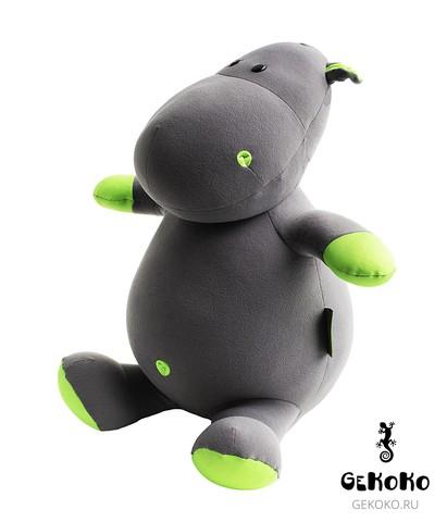 Подушка-игрушка антистресс «Бегемот малыш Няша», зеленый 3