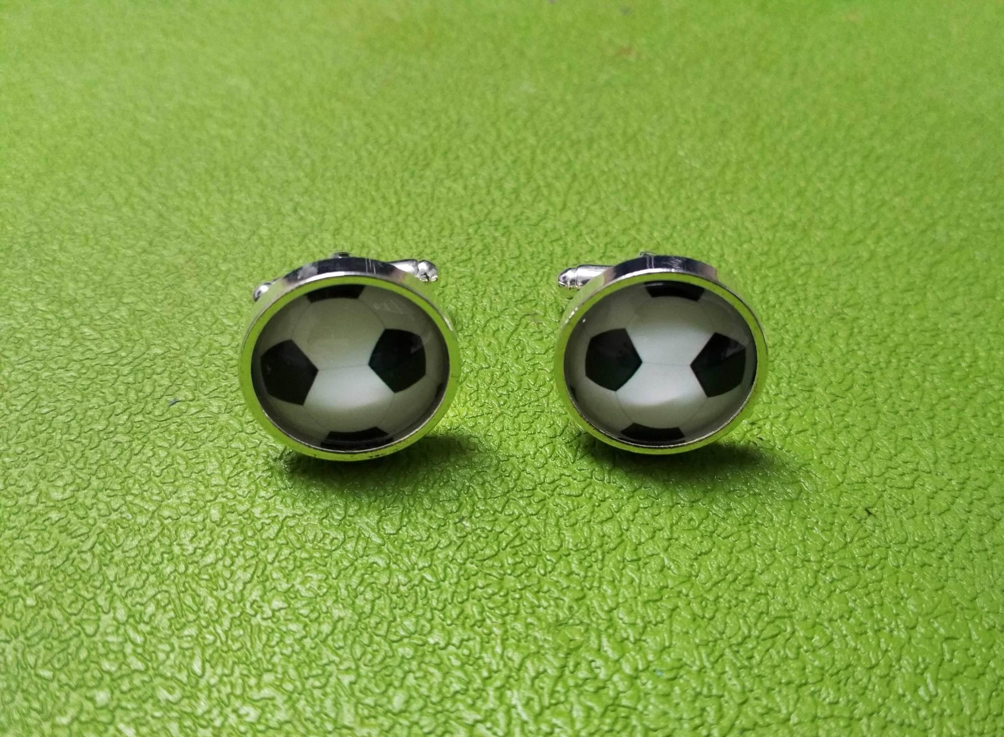 Запонки Футбольный мяч 1 (интернет-магазин украшений LKdesign)