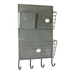 настенная вешалка с газетницей в стиле «loft»  45x10x60 см