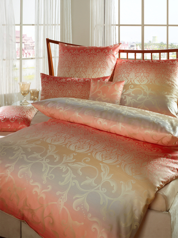 Элитный пододеяльник Sabah розово-коралловый от Curt Bauer