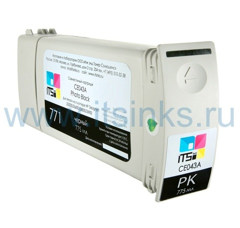 Картридж для HP 771 (CE043A) Photo Black 775 мл