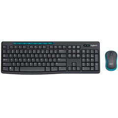 Клавиатура и мышь Logitech Wireless Combo MK275 Black-Blue USB