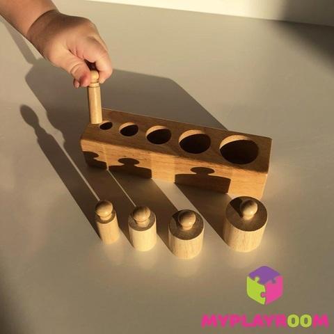 Блоки с цилиндрами-вкладышами для малышей 5
