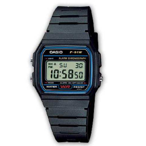 Купить Наручные часы Casio F-91W-1DG по доступной цене