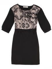 GDR002927 Платье женское, черно-разноцветное