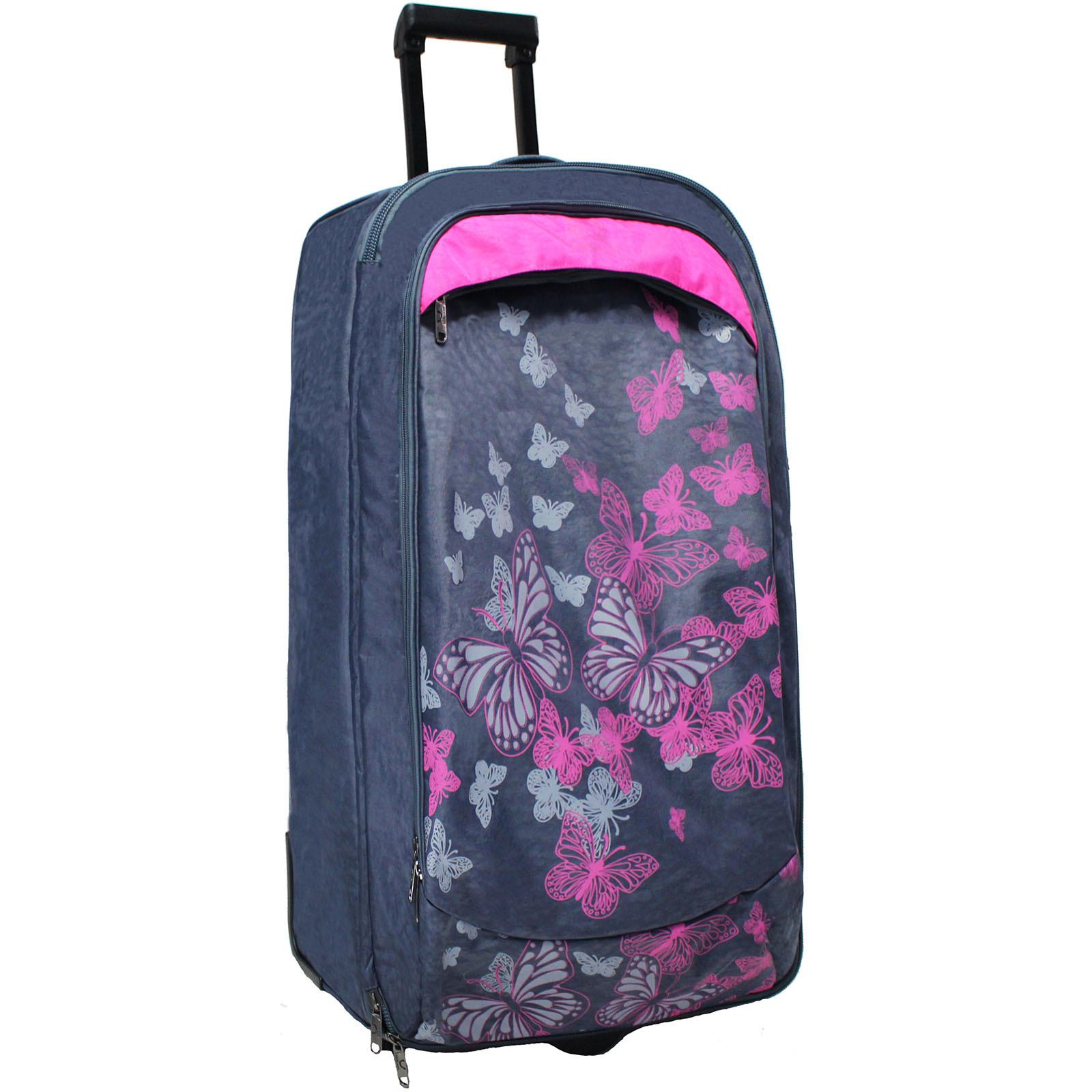 Дорожные чемоданы Сумка дорожная Bagland Барселона 86 л. Серый/розовый (0039470) IMG_0826.JPG