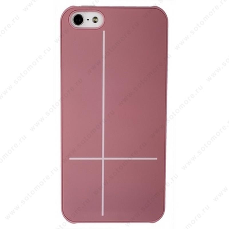 Накладка GUOER для iPhone SE/ 5s/ 5C/ 5 розовая