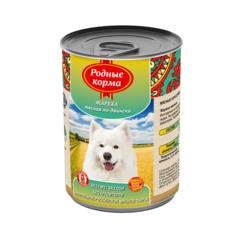 Родные корма консервы для собак Жареха мясная по-двински