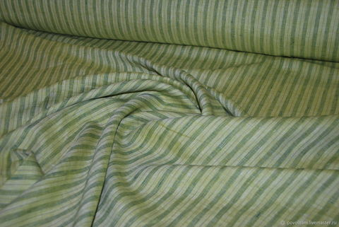 Льняная римская штора Кларин зеленый