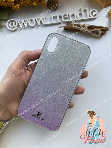 Чехол iPhone X/XS Swarovski Case /pink/