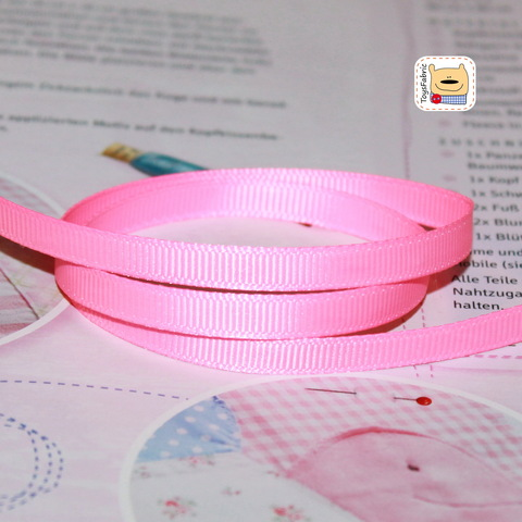 Лента репсовая 6мм (розовый) ЛР6-19