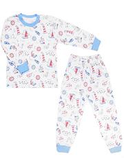 644-1 пижама детская, белая