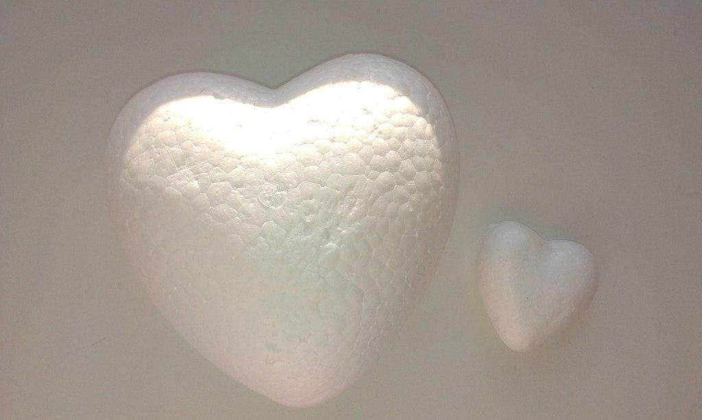 Сердце (пенопласт) 6 см, 1 шт.