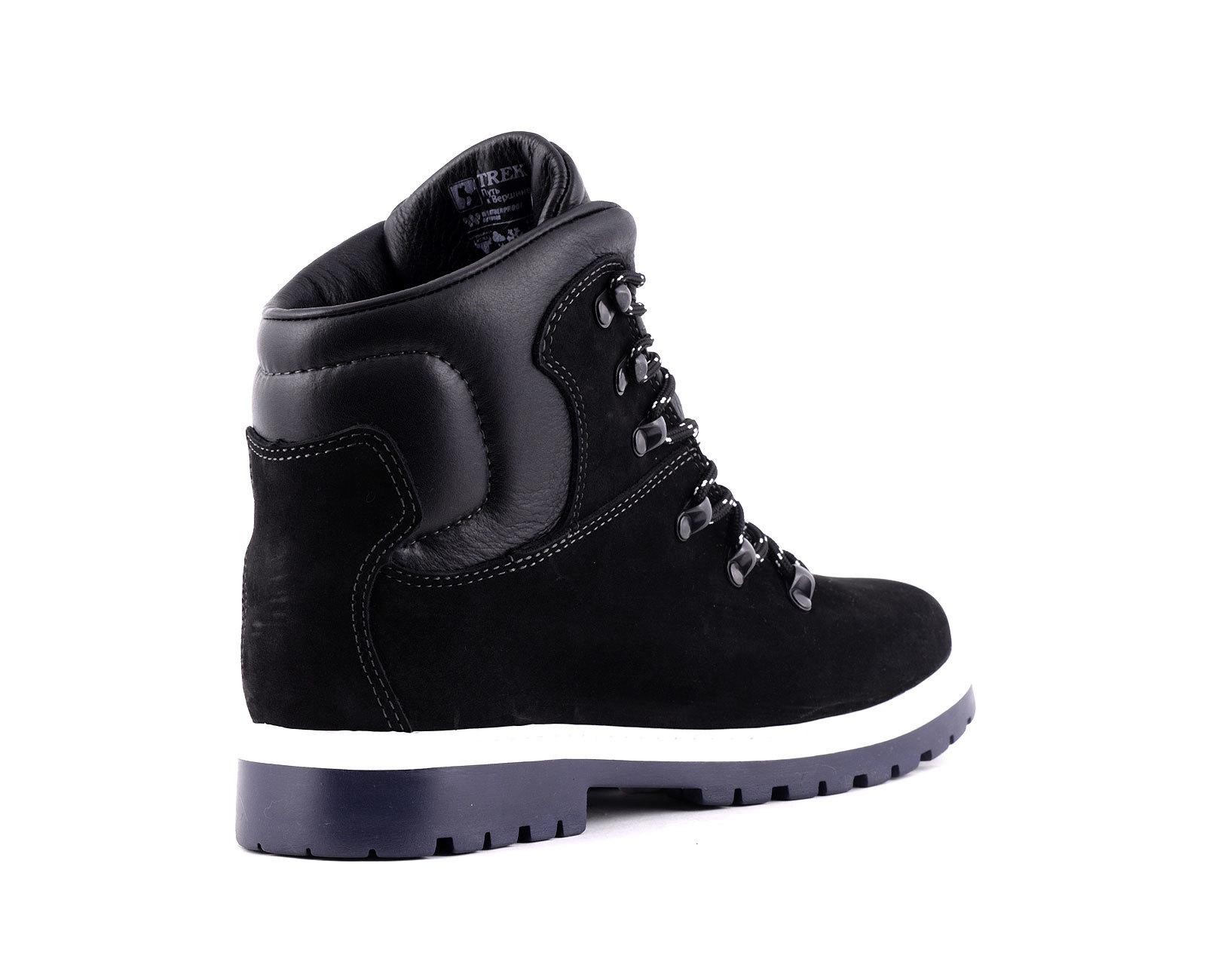 Ботинки TREK Маунт мех /нубук черный