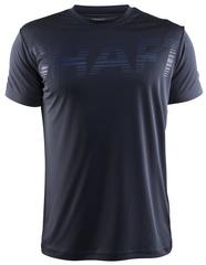 Мужская беговая футболка Craft Prime Run Logo 1904341-1947 темно-серая