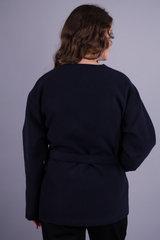 Гармония. Короткое пальто для больших размеров. Синий.