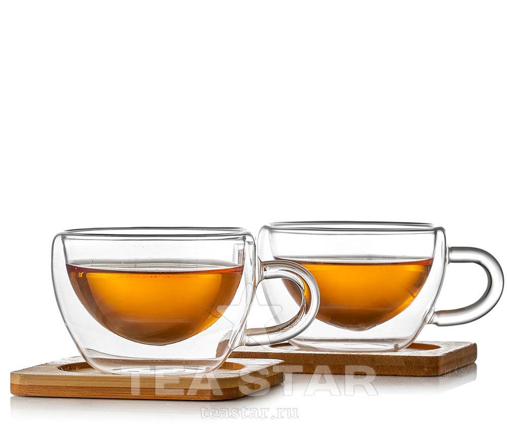Чашки с двойными стенками Две чашки с двойными стенками 150 мл + бамбуковые подставки kruzhka_150ml_nabor_s_podstavkoy_dvoynie_stenki.jpg