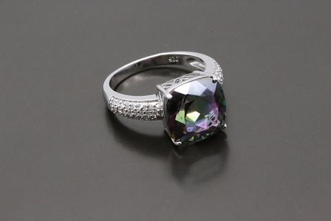 Серебряное кольцо с мистик топазом 53145501