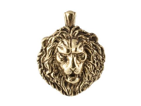 Бронзовый мужской кулон амулет Немейский Лев отечественного производства RH01534
