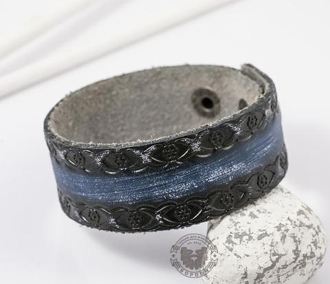 BL362-3 Оригинальный браслет из натуральной кожи с узором