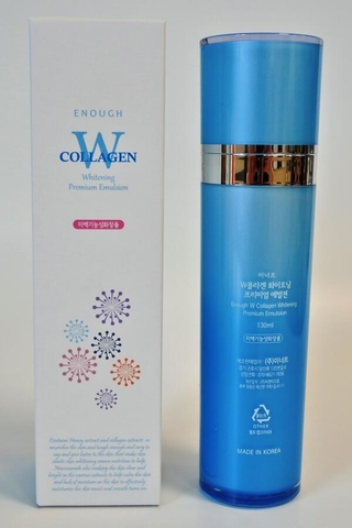 ENOUGH W Эмульсия для лица осветляющая W Collagen Whitening Emulsion 130мл