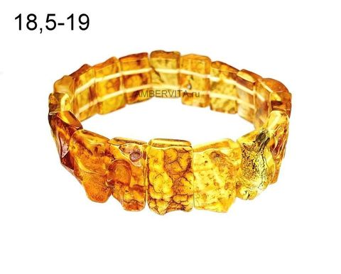 браслет из необработанного янтаря