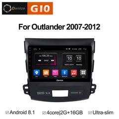 Штатная магнитола на Android 8.1 для Mitsubishi Outlander 07-12 Ownice G10 S9636E