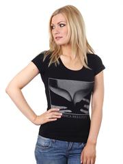 K72 футболка жен. черная