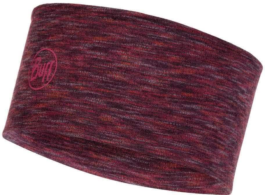 Шерстяная повязка Buff Headband Midweight Wool Shale Grey Multi Stripes