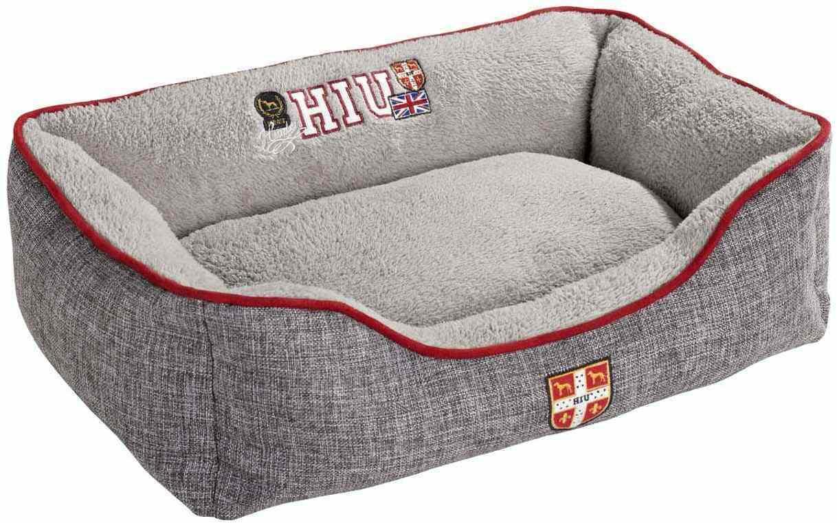 Лежанки Софа для собак Hunter University S 40х60 x20 см серая 61381.jpg