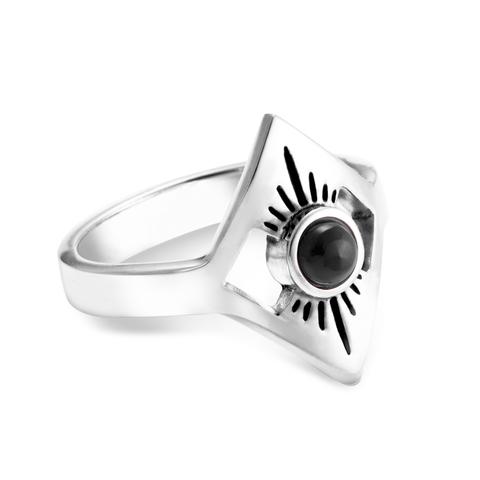 Кольцо STELLAR - Черный оникс